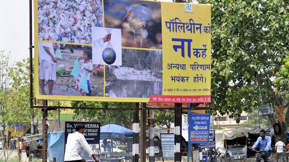 Plastic bags being widely used in Jharkhand 18 months after the ban