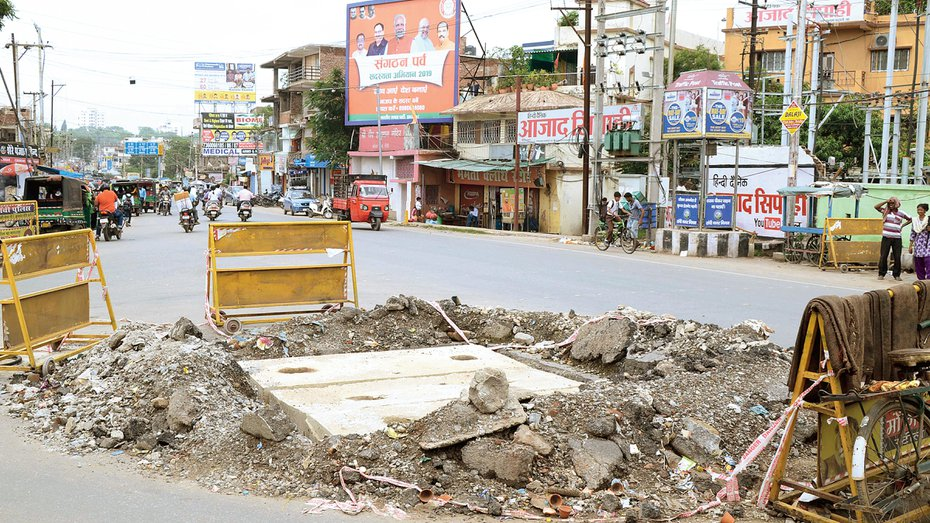 Even Ranchi Municipal Corporation is fed up with dug-up spots
