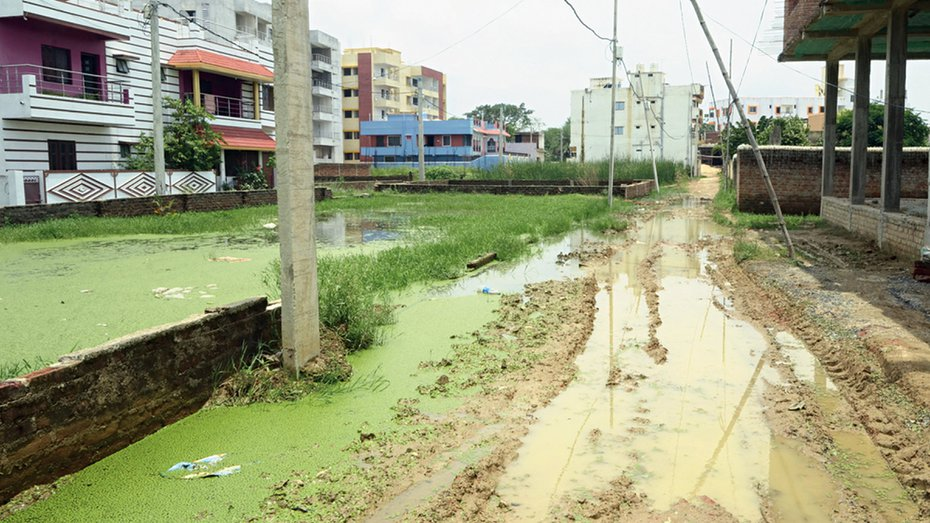 Ranchi 'Smart City' locality with mud roads and no drains