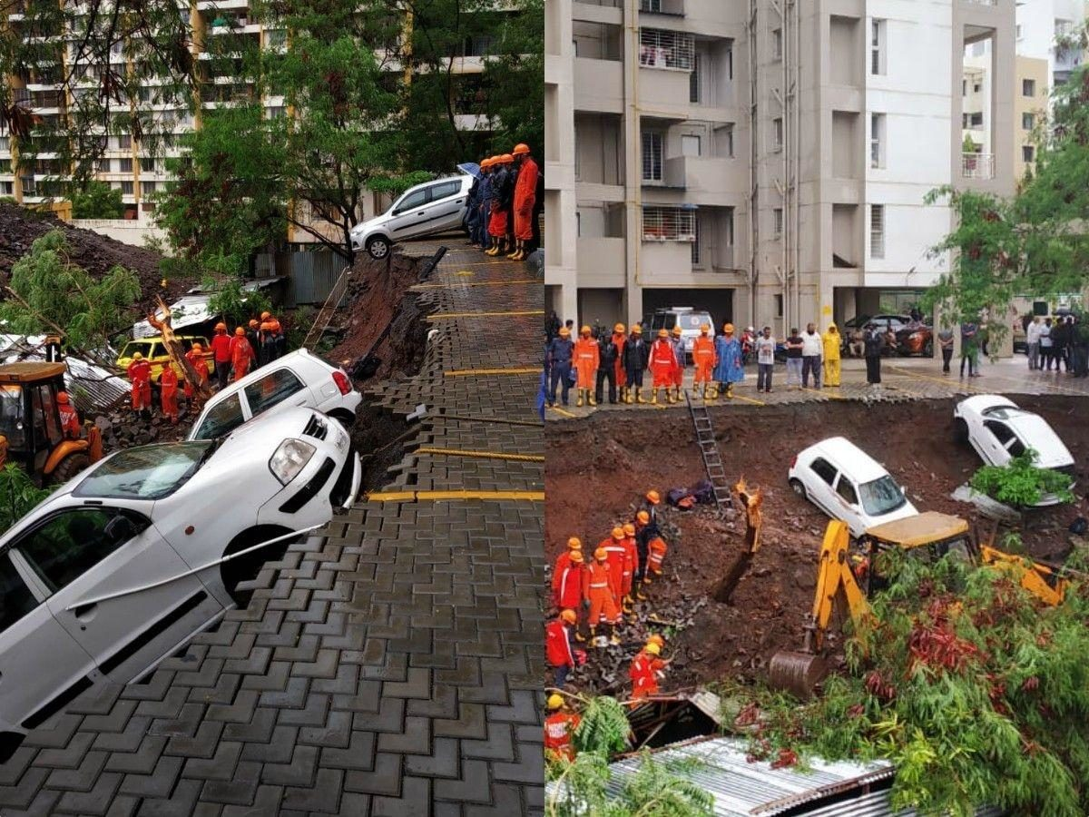 At Least 15 Killed Including 4 Children, Many Feared Trapped Under After Wall Collapses Due To Heavy Rains In Pune