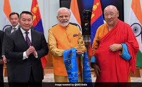 PM Modi, Mongolian President unveil Lord Buddha statue in Ulaanbaatar