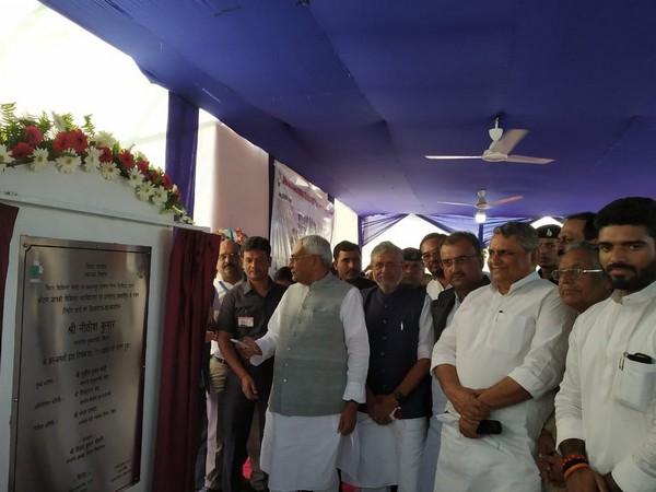 Bihar CM Nitish Kumar lays foundation stone for 500-bed hospital in Ujiarpur.