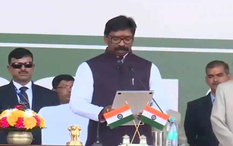 Hemant Soren sworn in as Chief Minister of Jharkhand.