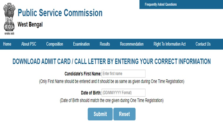 WB PSC civil services WBCS prelims admit card released: Check steps to download, exam pattern.